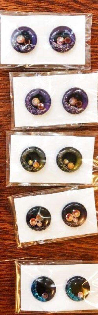 画像2: 吟遊詩人様製作ネオブライスsizeカスタム用アイチップ  (10)『紫』キラキラのラメ&ホログラム