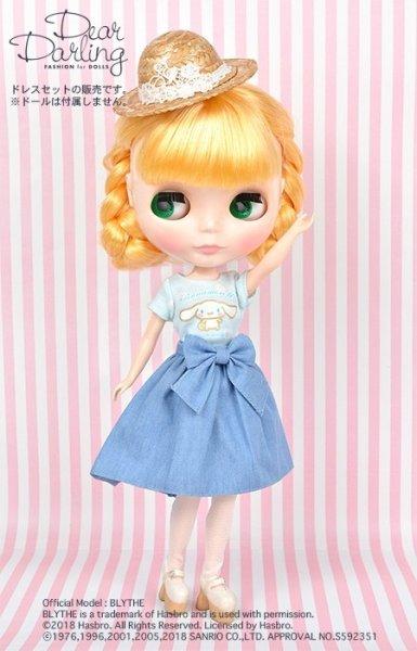 画像1: Blythe公式ドリーウェア:ネオブライスサイズ(22cm服)日本限定販売『 Tシャツ【サンリオ シナモンロール】』 (1)