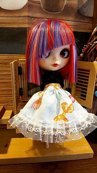 画像1: あま茶まる様 制作 『 ふんわりギャザースカートとドロワーズセット 』 ネオブライス size (1)